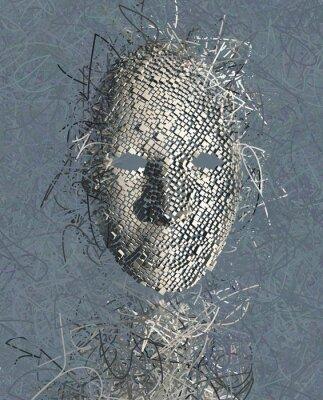 Bild Surreal Maske abstrakte mit vielen Drähten