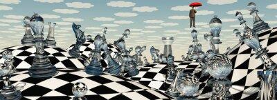 Bild Surreale Landschaft Schach