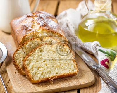 Susskase Ricotta Kuchen Mit Olivenol Leinwandbilder Bilder Ricotta