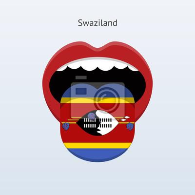 Swaziland Sprache. Abstrakt menschliche Zunge.