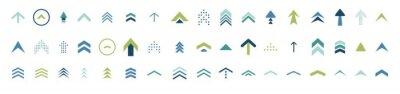 Bild swipe up icon set. isolated arrows vector move up logo
