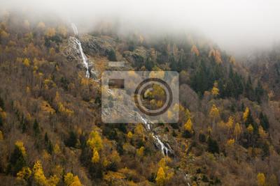 Bild Swiss alps in the autumn, waterfall