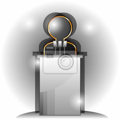 Symbol der lautsprecher leinwandbilder • bilder Rundfunksprecher ...