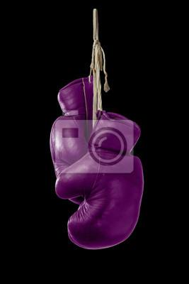 Symbol für Frau Boxen mit rosa Boxhandschuhe