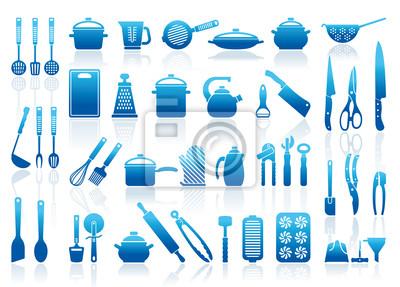 Symbole der Küchengeschirr, Besteck und Werkzeuge