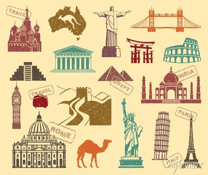 Bild Symbole der Reisen