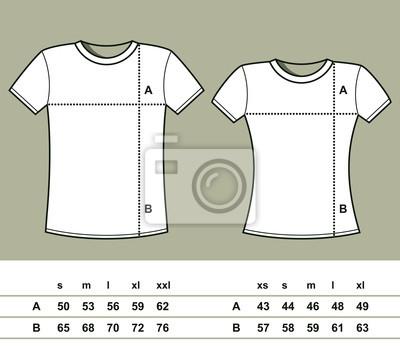69cac9a34336cf T-shirt-größen (männer und frauen) leinwandbilder • bilder ...