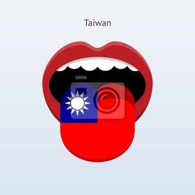 Taiwan Sprache. Abstrakt menschliche Zunge.