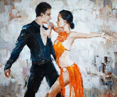 Bild Tango-Tänzer digitale Malerei, Tango-Tänzer
