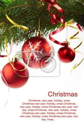 Bild Tanne Weihnachten, Glückwunsch-Text
