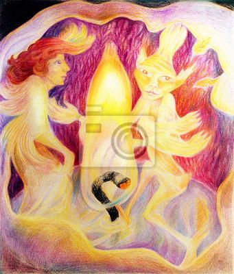 Tanzen in einer Kerze mit einem Candle-Light-Feuergeist