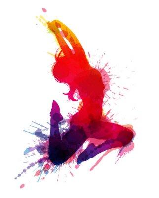 Bild Tanzen Mädchen mit Grunge-Spritzer
