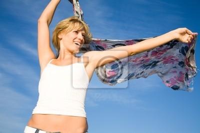 tanzenden Frau