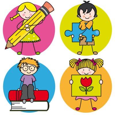 Bild Tarjeta aprender ein pintar, escribir, leer, jugar