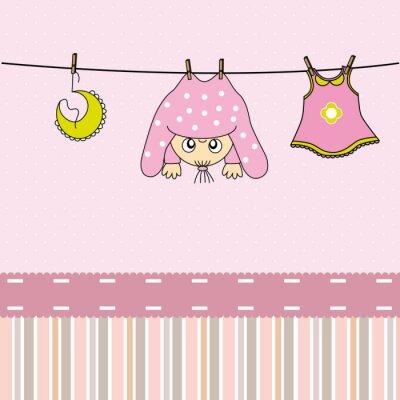 Bild Tarjeta nacimiento bebe niña