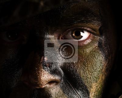 Bild Tarnung bemalte Gesicht