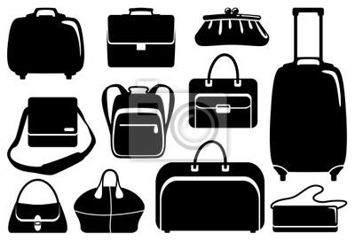 Taschen und Koffer Symbole gesetzt