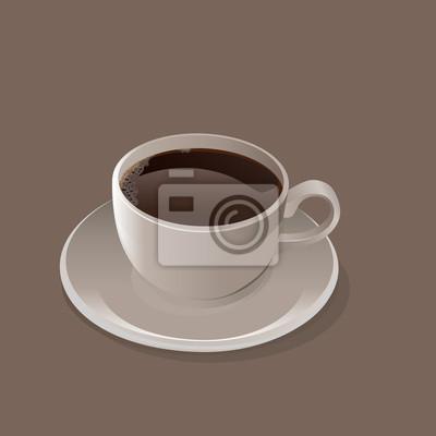 Bild Tasse schwarzer Kaffee Vektor