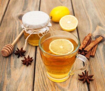 Bild Tasse Tee mit Honig