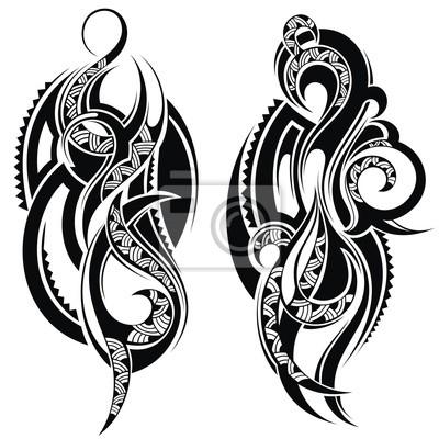 Tattoo Design Elements Leinwandbilder Bilder Schulter Maori