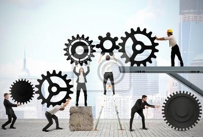 Bild Teamwork der Geschäftsleute