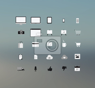 Technolgy Computing und Anwendungs-Symbole