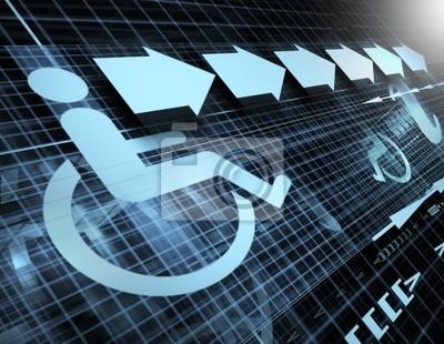 Technologie Hintergrund mit dem Symbol der Zugänglichkeit