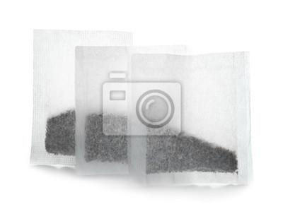 Bild Teebeutel auf weißem Hintergrund