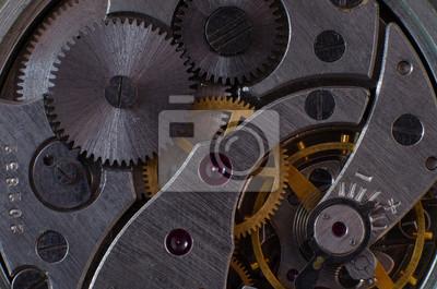 Teil des Mechanismus einer Taschenuhr close-up