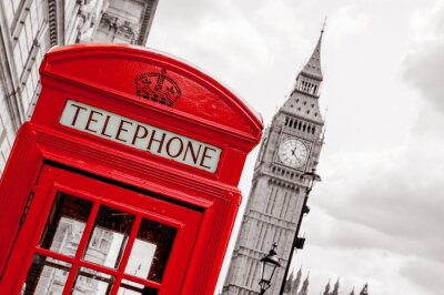 Bild Telefonzelle. London, UK