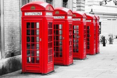 Bild Telefonzellen in London im Farb-Key-Verfahren