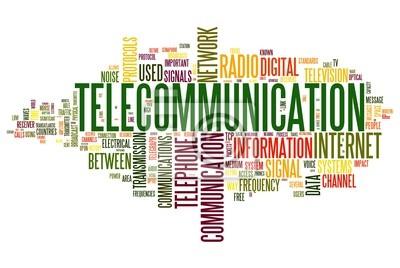 Bild Telekommunikation Konzept in Wort tag cloud