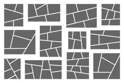 Bild Templates collage frames for photo or comics. Vector set