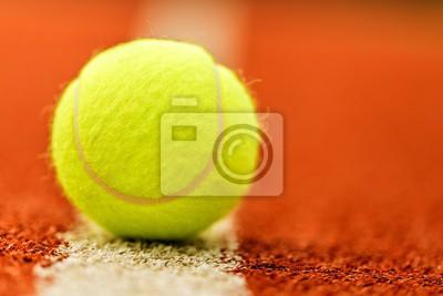Tennis ball on cort