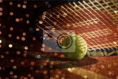Tennis game. Tennis balls and rackets