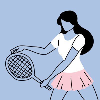 tennis player in sportswear with a racket