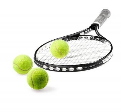 Tennis racquet and tennis balls