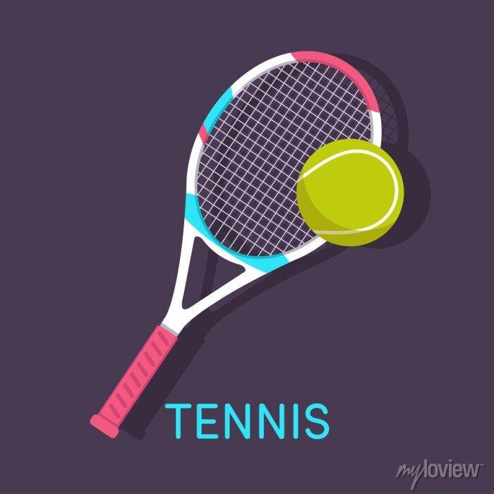 Bild Tennis, Schläger, Ball braunen Hintergrund