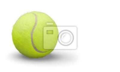 Tennisbälle und Schläger auf Schreibtisch