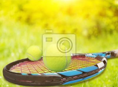 Tennisschläger.