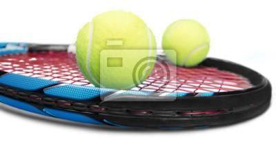 Tennisschläger und Bälle