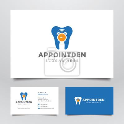 Termin Zahnmedizin Logo Und Visitenkarte Leinwandbilder