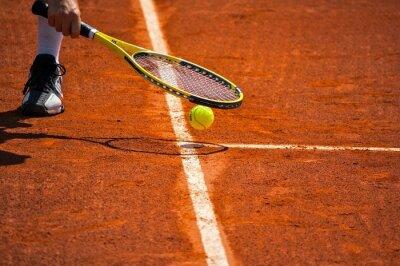 Bild Terrain de Tennis, raquette et jaune balle