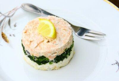 Bild Terrine de saumon, épinards