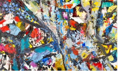 Bild Textur, Hintergrund, Muster. Gemälde von einem Künstler gemalt. Abstrakte Hintergrundbeschaffenheit der Kunst, Acrylfarbe auf Segeltuch. Silhouetten von Menschen, orientalische Themen,