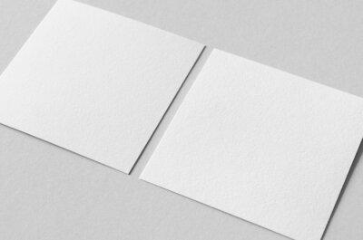 Bild Textured invitation card or flyer mockup, square size.
