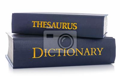 Bild Thesaurus und Wörterbuch auf weißem