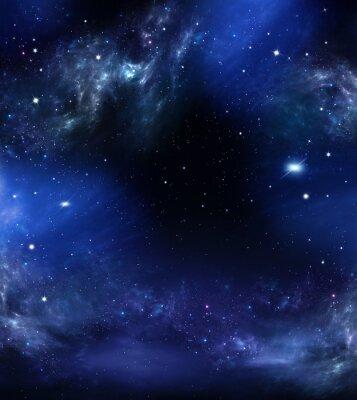 Bild Tiefen Raum, abstrakte blauen Hintergrund