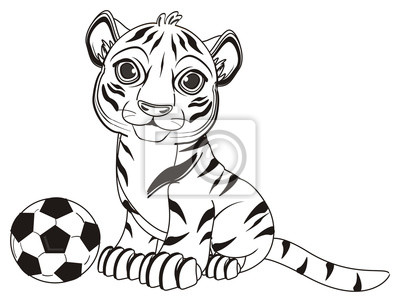 Tier, cartoon, wild, katze, zoo, zirkus, gefährlich, illustration ...