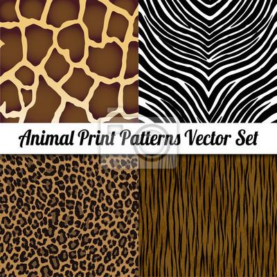 Tierdruck-Illustration Vector Set.